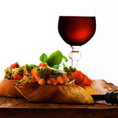 passender Wein und Rezept zur Bruschetta