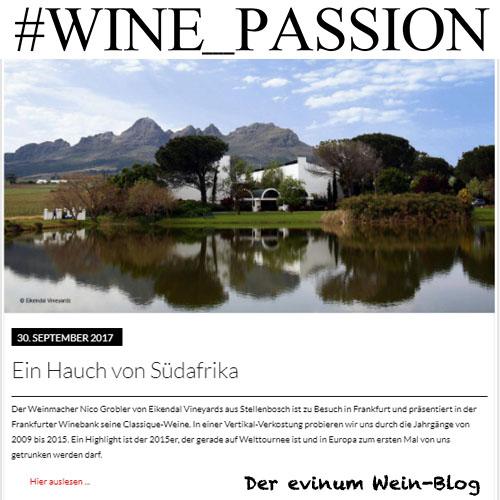 Blog #Wine_Passion Eikendal