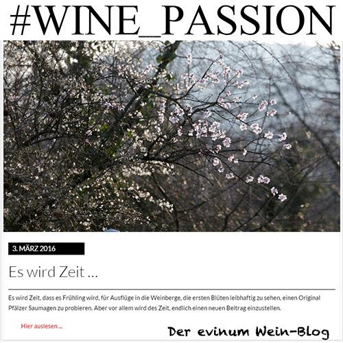 #WINE_PASSION, der evinum Wein-Blog, Promotions Weincommunity